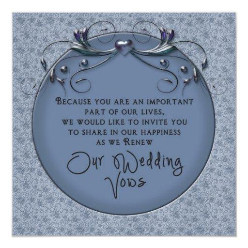 - Votos de boda de renovación - invitación floral