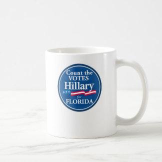 Votos de Clinton para la taza de la FLORIDA