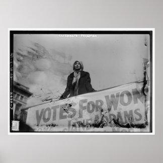 Votos de Elizabeth Freeman para las mujeres Póster