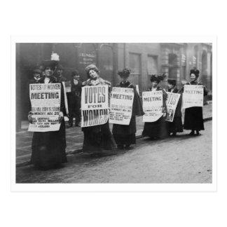 Votos de los Suffragettes para las mujeres, Londre Postal