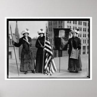 Votos de los Suffragettes para los prospectos del  Impresiones