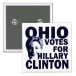 Votos de Ohio para el botón de la campaña de Hilla Pins