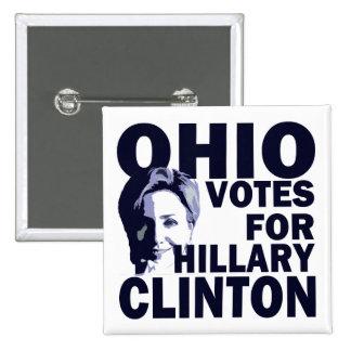 Votos de Ohio para el botón de la campaña de Hilla