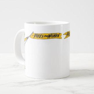 Votos del Suffragette para la taza de las mujeres Taza Grande
