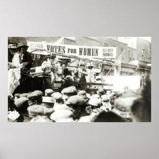 Votos para las mujeres, agosto de 1908 póster