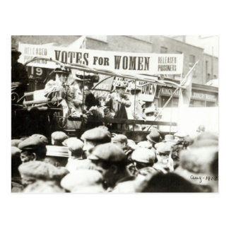 Votos para las mujeres, agosto de 1908 tarjeta postal