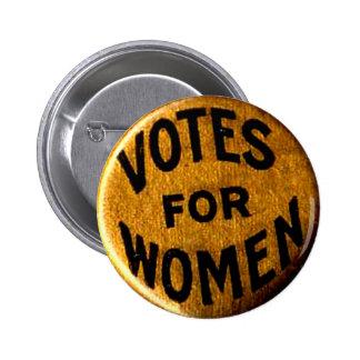 Votos para las mujeres - botón
