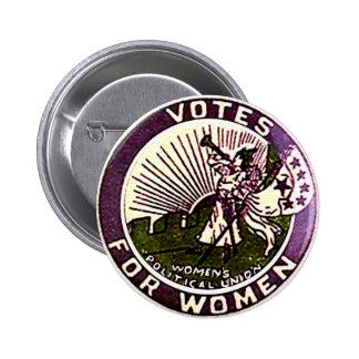 Votos para las mujeres - botón pin redondo de 2 pulgadas