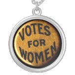 Votos para las mujeres - collar