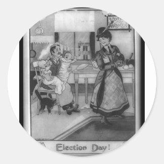 ¡Votos para las mujeres! Pegatina Redonda