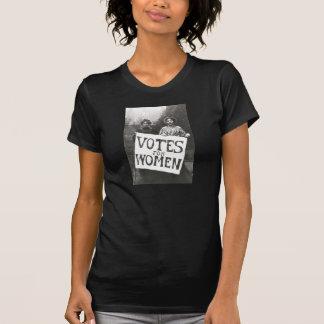 Votos para las mujeres camisetas