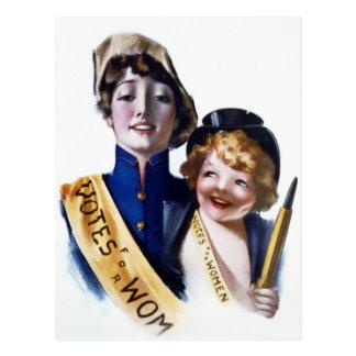 Votos para las mujeres - Suffrage de las mujeres, Postal