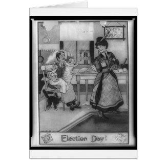 ¡Votos para las mujeres! Tarjetón