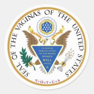 VOTUS - Vaginas of the United States Sticker