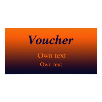 Voucher gradient Orange - Dark Blue Card