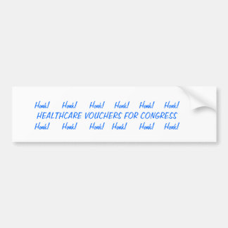 vouchers bumper sticker