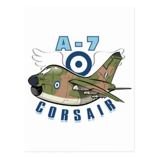 vought a-7 corsair postcard