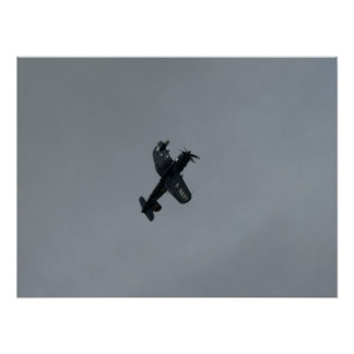 Vought F4U-5NL Corsair. Poster