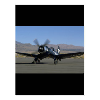 Vought F4U Corsair, Left Front_WWII Planes Postcard