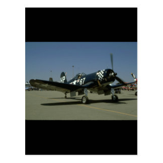Vought F4U Corsair, Right Front_WWII Planes Postcard