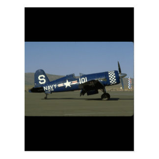 Vought F4U Corsair, Wings Flat,Right_WWII Planes Postcard