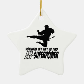 vovinam vet viet dao is my superpower Double-Sided star ceramic christmas ornament