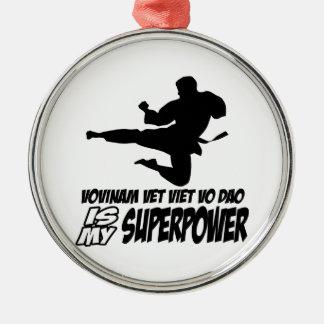 vovinam vet viet dao is my superpower round metal christmas ornament
