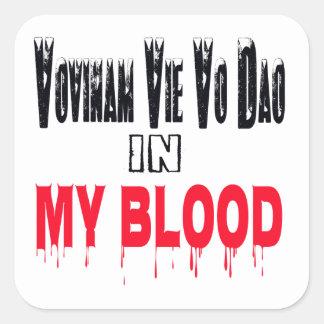 Vovinam vie vo dao In My Blood Square Stickers