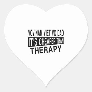 VOVINAM VIET VO DAO IT IS CHEAPER THAN THERAPY HEART STICKER