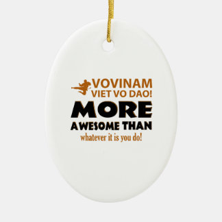 Vovinam Viet Vo Dao Martial arts gift items Double-Sided Oval Ceramic Christmas Ornament