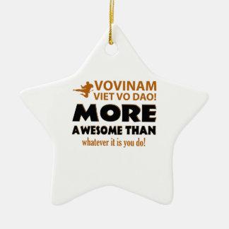 Vovinam Viet Vo Dao Martial arts gift items Double-Sided Star Ceramic Christmas Ornament