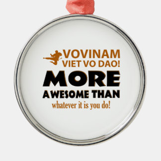 Vovinam Viet Vo Dao Martial arts gift items Round Metal Christmas Ornament