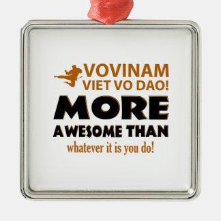 Vovinam Viet Vo Dao Martial arts gift items Square Metal Christmas Ornament