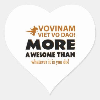 Vovinam Viet Vo Dao Martial arts gift items Heart Sticker