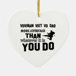 VOVINAM VIET VO DAO MARTIAL arts gifts Double-Sided Heart Ceramic Christmas Ornament
