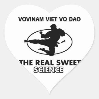 Vovinam Viet Vo Dao  martial arts Heart Sticker