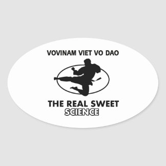 Vovinam Viet Vo Dao martial arts Oval Stickers