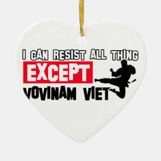 vovinam viet vo dao martial design Double-Sided heart ceramic christmas ornament