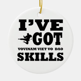 Vovinam Viet Vo designs Double-Sided Ceramic Round Christmas Ornament