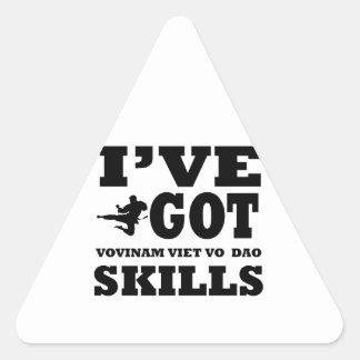 Vovinam Viet Vo designs Triangle Sticker