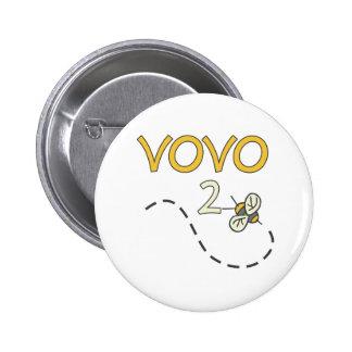 Vovo 2 Bee Pinback Button