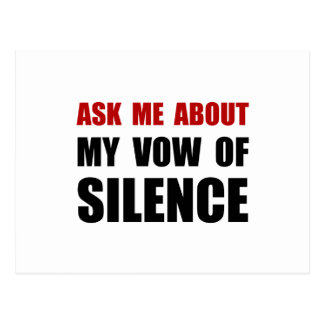 Vow Of Silence Postcard