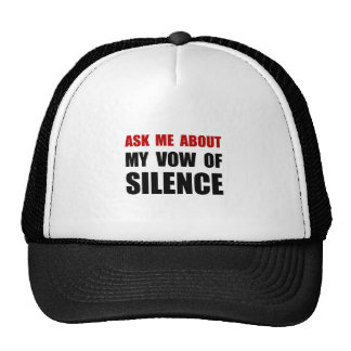 Vow Of Silence Trucker Hat