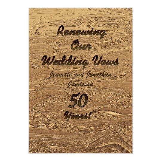 50th Wedding Anniversary Vows Renewal: Vow Renewal 50th Anniversary Invitation 2Sided