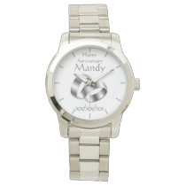 Vow Renewal Anniversary WIFE Watch Personalized