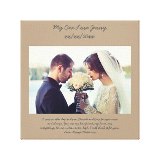 Gift Ideas For Couple Renewing Wedding Vows : Vow Renewal Gift for wife personalized Canvas Print