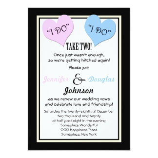Vow Renewal I Do I Do Take Two 5x7 Paper Invitation Card