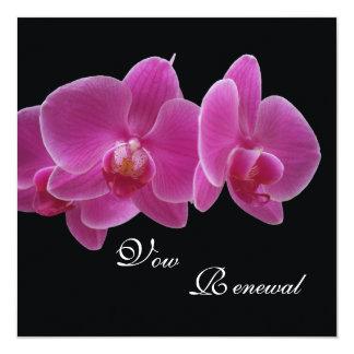 Vow Renewal Purple Orchids 5.25x5.25 Square Paper Invitation Card