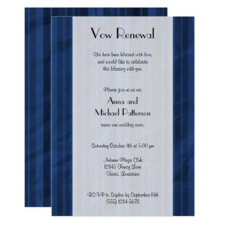 Vow Renewal - Stripes (Parallel Lines) - Blue Card