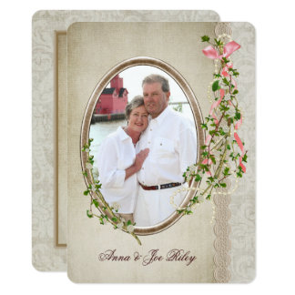 Vow Renewal with Personalized Photo Card